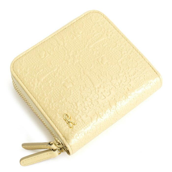 <クーポン配布中>展示品箱なし ロベルタディカメリーノ 財布 二つ折り財布 ラウンドファスナー ゴールド(イエローっぽいゴールドです。) Roberta di Camerino rbi662-41 レディース 婦人