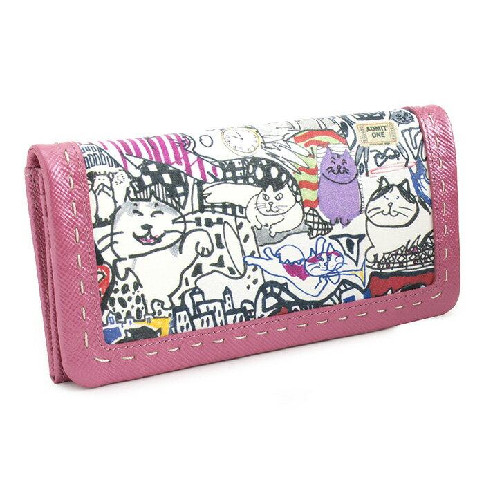 展示品箱なし マンハッタナーズ 財布 長財布 ピンク系 Manhattaner's 0758932-0135 レディース 婦人