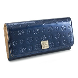 <クーポン配布中>展示品箱なし クレイサス 財布 長財布 紺(ネイビー) CLATHAS 182266-84 レディース 婦人