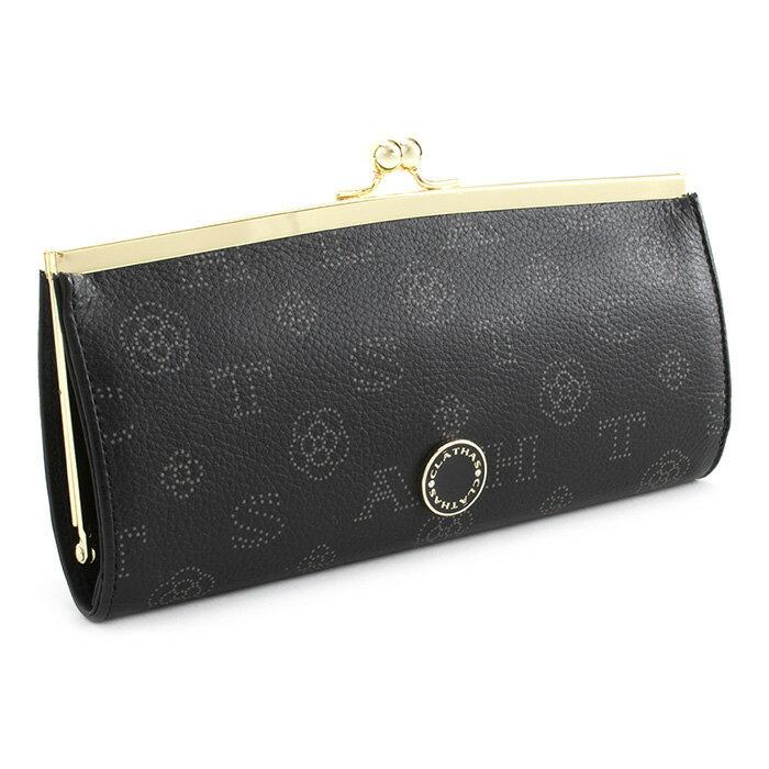 <クーポン配布中>クレイサス 財布 長財布 がま口長財布 黒(ブラック) CLATHAS 186881-10 レディース 婦人