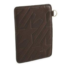 展示品箱なし ヴィヴィアンウエストウッド 定期入れ パスケース カードケース 濃茶系(ダークブラウン) Vivienne Westwood ACCESSORIES 36383161