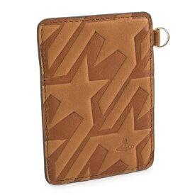 展示品箱なし ヴィヴィアンウエストウッド 定期入れ パスケース カードケース 茶(ブラウン) Vivienne Westwood ACCESSORIES 36383162