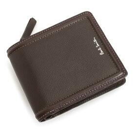 <クーポン配布中>展示品箱なし ポールスミス 財布 二つ折り財布 L字ファスナー チョコ Paul Smith psc025-71 メンズ 紳士