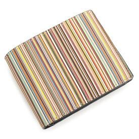 <クーポン配布中>ポールスミス 財布 二つ折り財布 マルチ Paul Smith psc084-17 メンズ 紳士