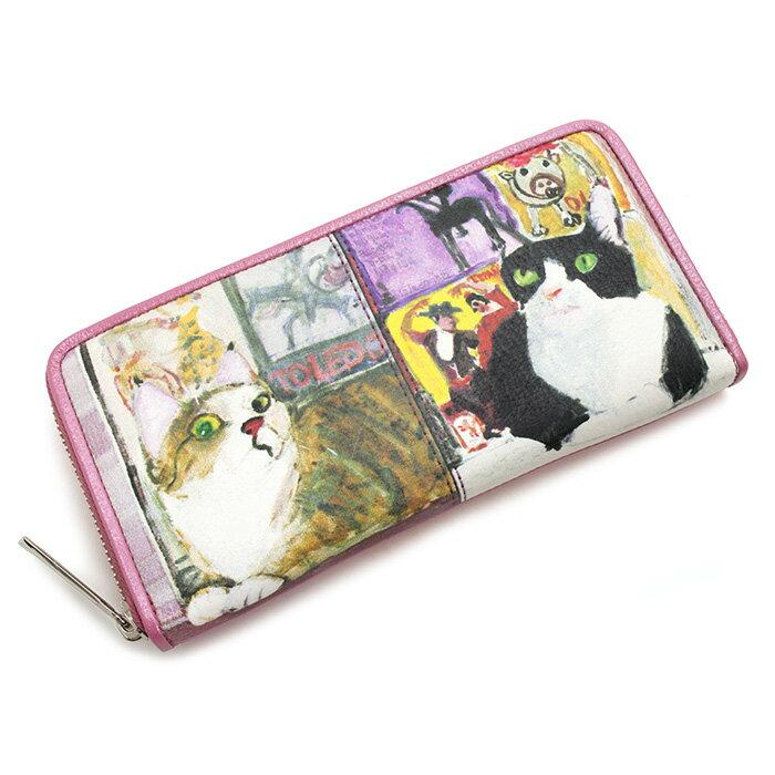 展示品箱なし マンハッタナーズ 財布 長財布 ラウンドファスナー ピンク Manhattaner's 075140240-33 レディース 婦人