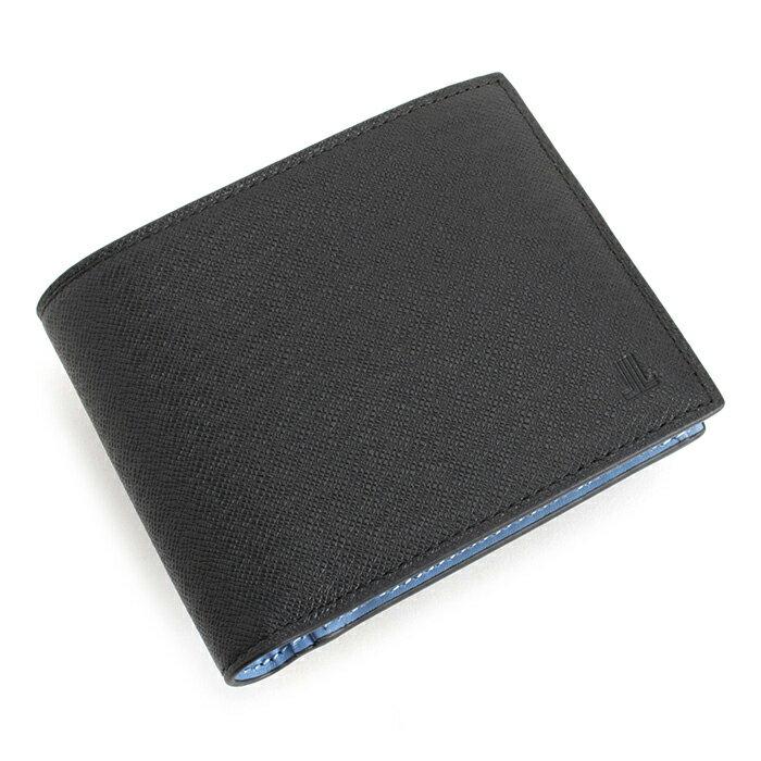 <クーポン配布中>展示品箱なし ランバンコレクション 財布 二つ折り財布 黒(ブラック)/内側:水色 jlmw0gs8-10 LANVIN collection メンズ 紳士