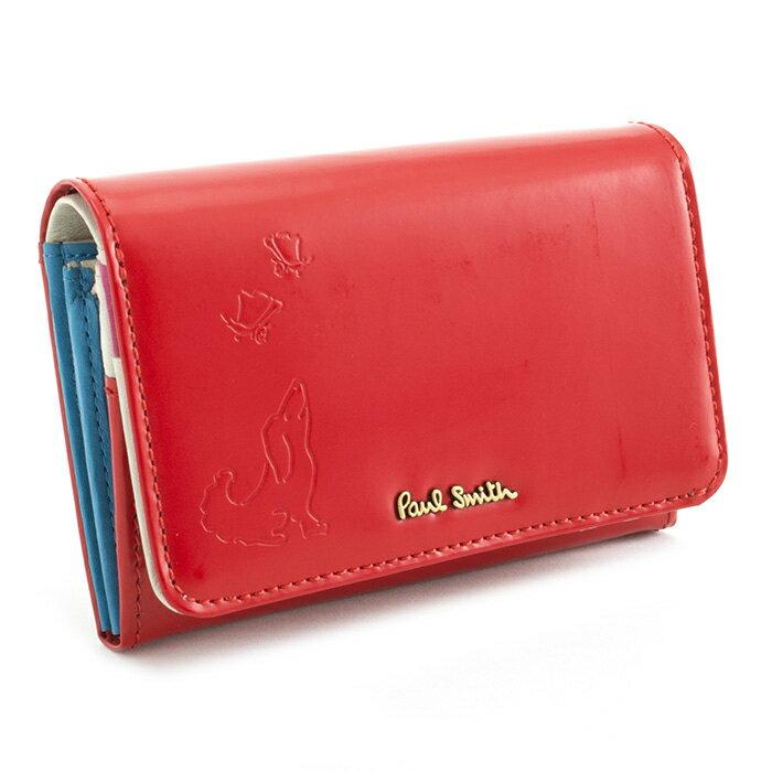 <クーポン配布中>展示品箱なし ポールスミス 財布 二つ折り財布 赤(レッド) Paul Smith pwu565-20 レディース 婦人