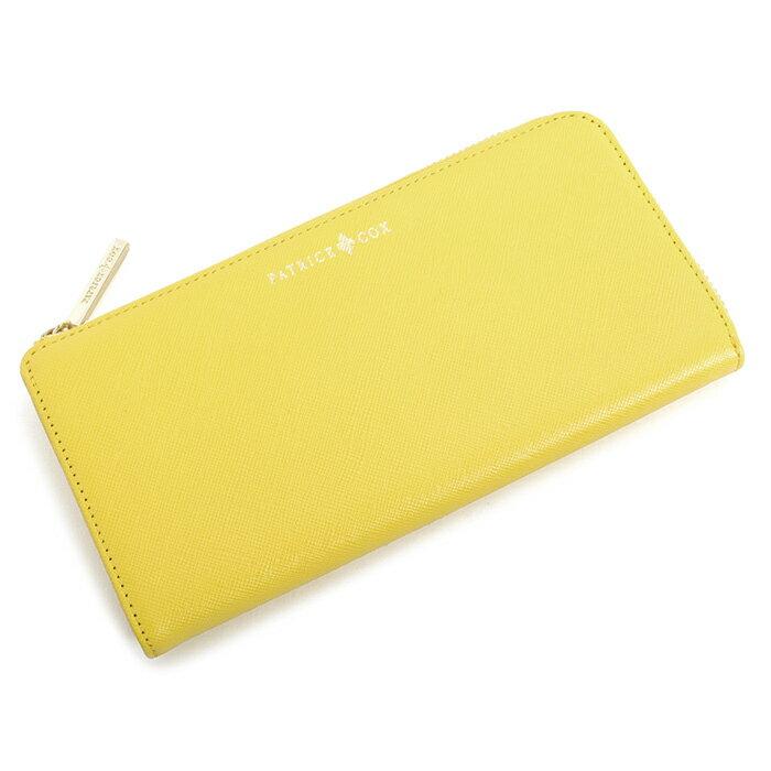 <クーポン配布中>訳あり展示品箱なし パトリックコックス 財布 長財布 L字ファスナー 黄色(イエロー) PATRICK COX pxlw5bt3 b レディース 婦人