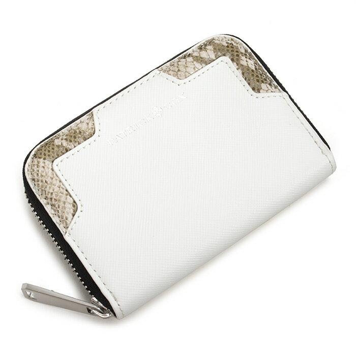 <クーポン配布中>展示品箱なし パトリックコックス 財布 小銭入れ コインケース ラウンドファスナー 白(ホワイト。コーナーに柄入り。) PATRICK COX pxmw5sc1-9b メンズ 紳士