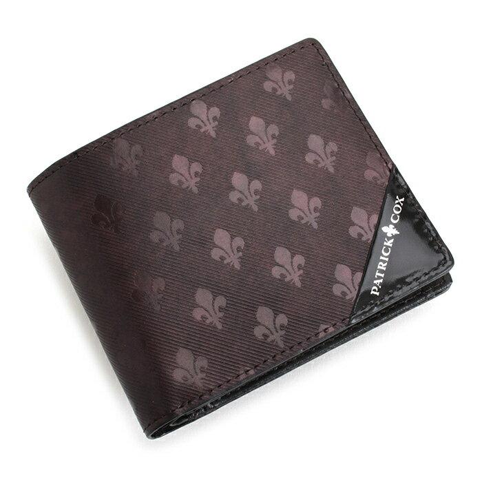 パトリックコックス 財布 二つ折り財布 ボルドー PATRICK COX pxmw6as2-55 メンズ 紳士