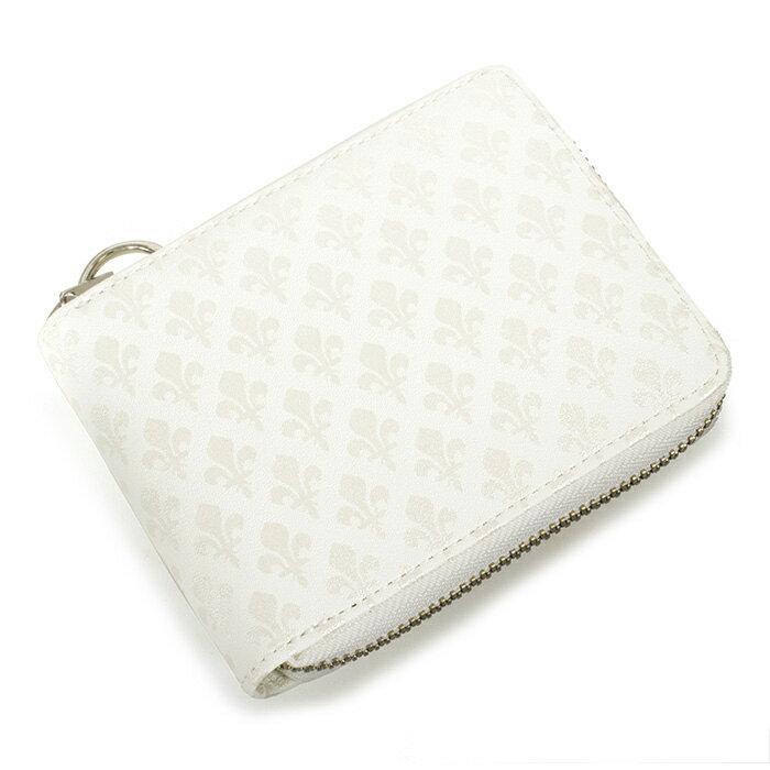 <クーポン配布中>パトリックコックス 財布 二つ折り財布 ラウンドファスナー 白(ホワイト) PATRICK COX pxmw9er1-00 メンズ 紳士