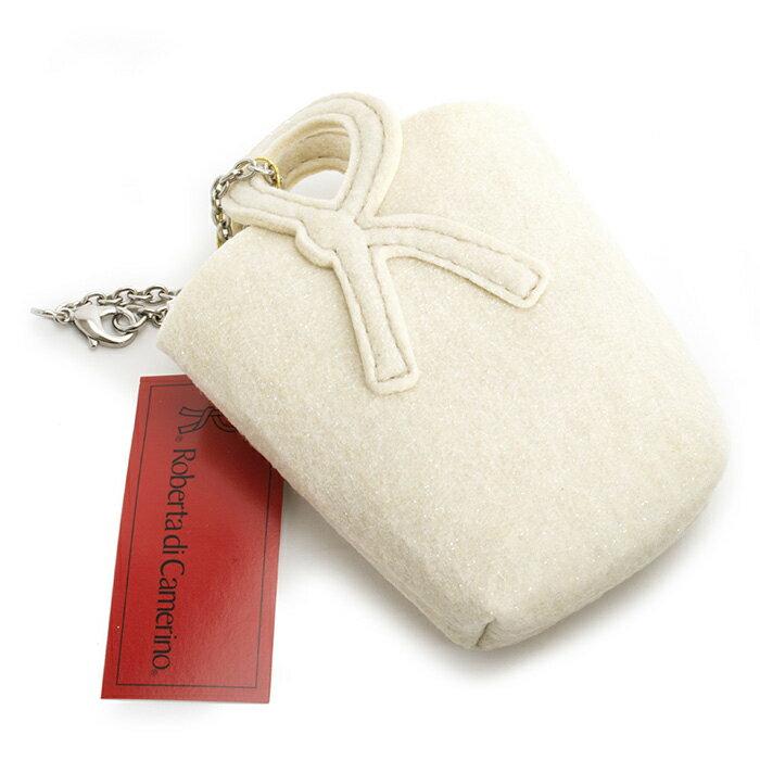 <クーポン配布中>ロベルタディカメリーノ バッグ ミニポーチ Roberta di Camerino 白(ホワイト、クリームっぽい白です。) rbb030-60 レディース 婦人