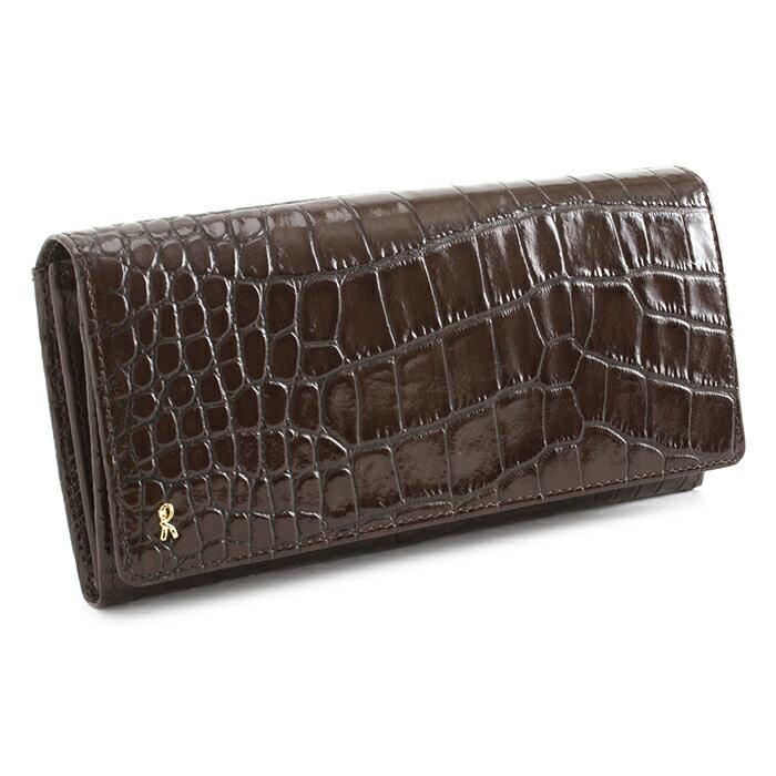 <クーポン配布中>展示品箱なし ロベルタディカメリーノ 財布 長財布 チョコ Roberta di Camerino rbi685-71 レディース 婦人