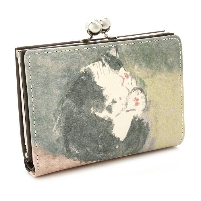 展示品箱なし マンハッタナーズ 財布 二つ折り財布 がま口財布 茶(ブラウン) Manhattaner's 070756610-99 レディース 婦人