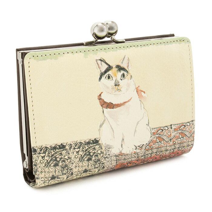 展示品箱なし マンハッタナーズ 財布 二つ折り財布 がま口財布 茶(ブラウン) Manhattaner's 070757110-99 レディース 婦人