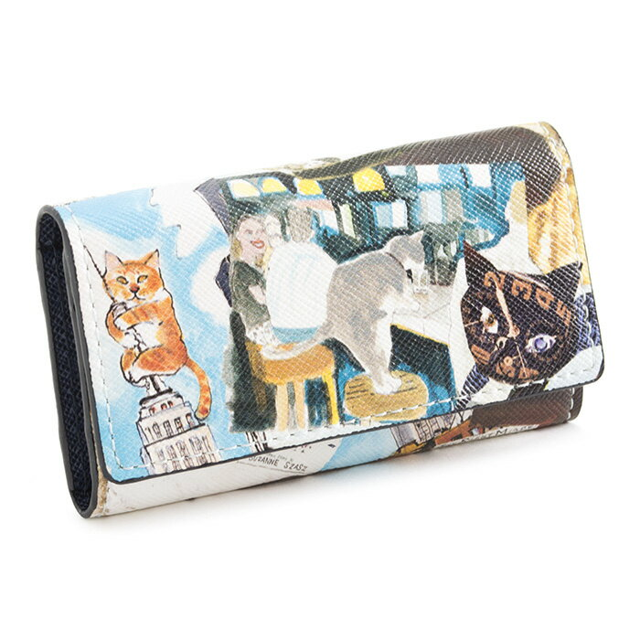 展示品箱なし マンハッタナーズ キーケース 紺(ネイビー) Manhattaner's 075165100-84 レディース 婦人