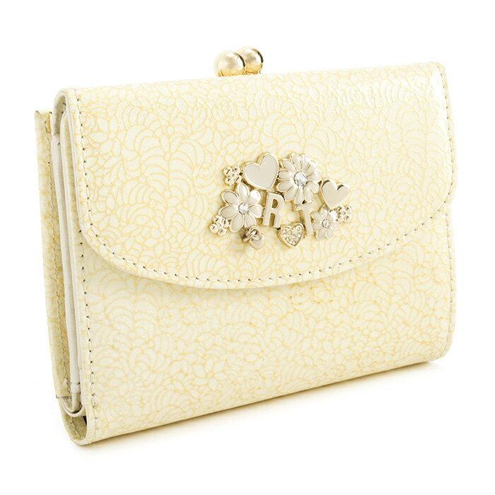 訳あり展示品箱なし レベッカテイラー 財布 二つ折り財布 がま口財布 黄色(イエロー。薄いイエローです。) REBECCATAYLOR 863472-01 b レディース 婦人