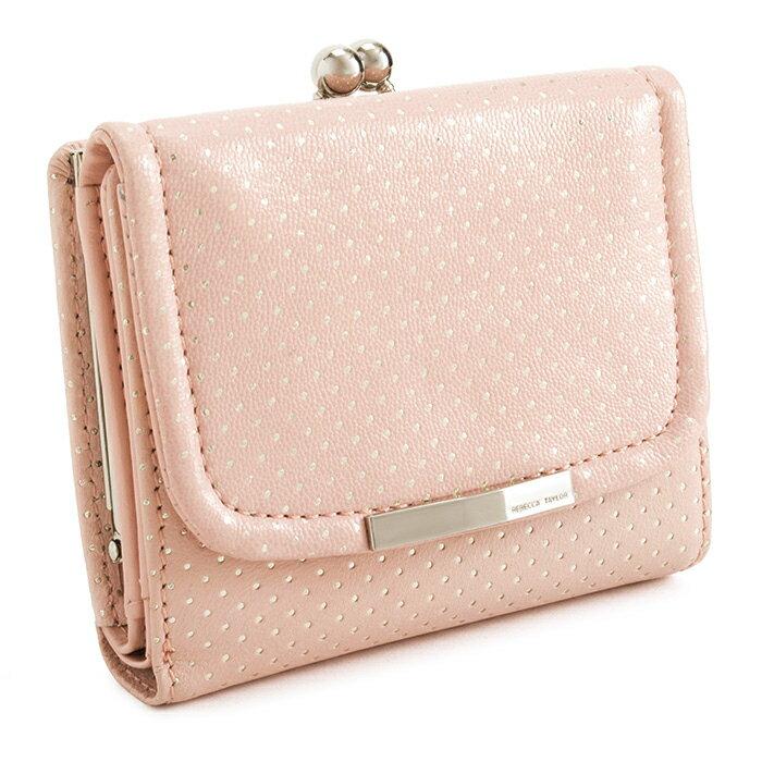 展示品箱なし レベッカテイラー 財布 三つ折り財布 がま口財布 ピンク REBECCATAYLOR 866312-33 レディース 婦人
