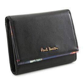 <クーポン配布中>ポールスミス 財布 三つ折り財布 黒(ブラック) Paul Smith pwu763-10 レディース 婦人