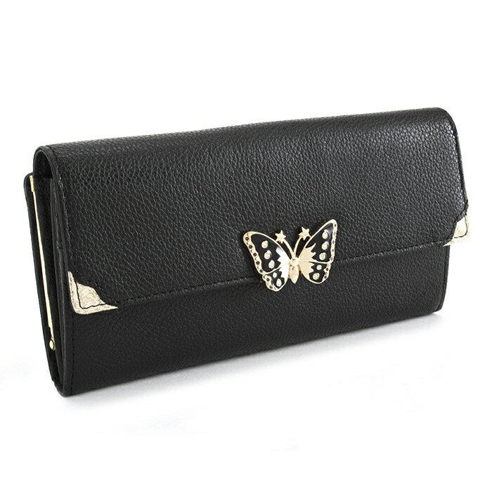 <クーポン配布中>アナスイ 財布 長財布 がま口財布 黒(ブラック) ANNA SUI 312571-10 レディース 婦人