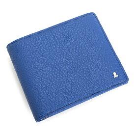 <クーポン配布中>ランバンコレクション 財布 二つ折り財布 カード&札 青(ブルー) LANVIN collection jlmw5hs1-34 メンズ 紳士