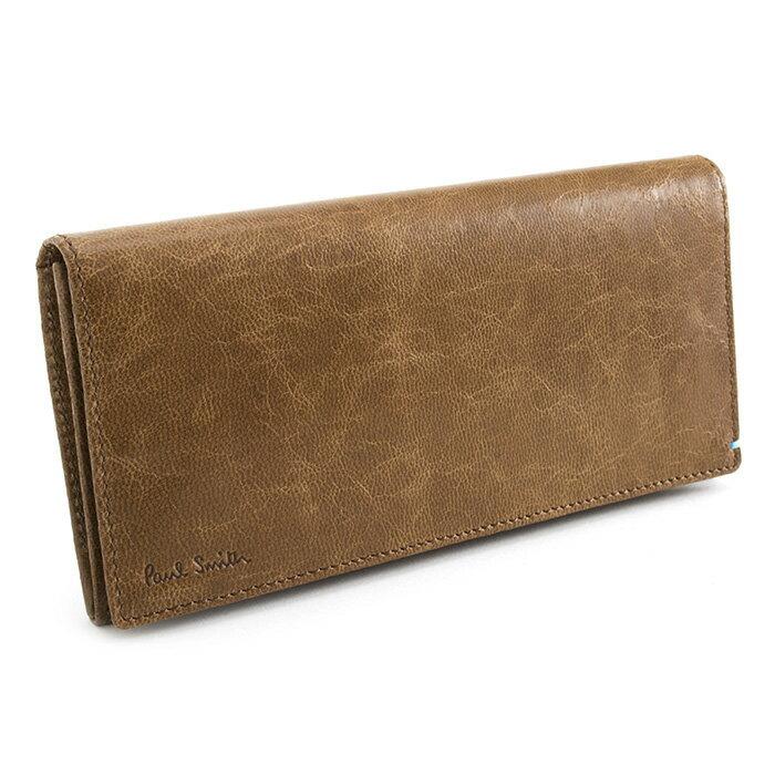 ポールスミス 財布 長財布 キャメル Paul Smith psk008-70 メンズ 紳士