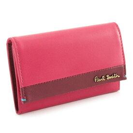 <クーポン配布中>ポールスミス 名刺入れ カードケース ピンク(ローズっぽい濃いピンク系です。) Paul Smith pwu652-24 レディース 婦人