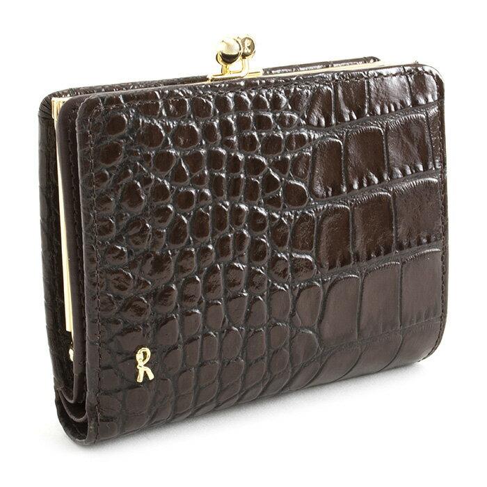 <クーポン配布中>ロベルタディカメリーノ 財布 二つ折り財布 がま口財布 チョコ Roberta di Camerino rbi682-71 レディース 婦人
