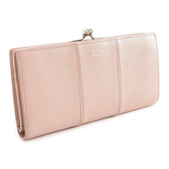 展示品箱なし ニナリッチ 財布 長財布 がま口財布 ライトピンク NINA RICCI 035355410-32 レディース 婦人