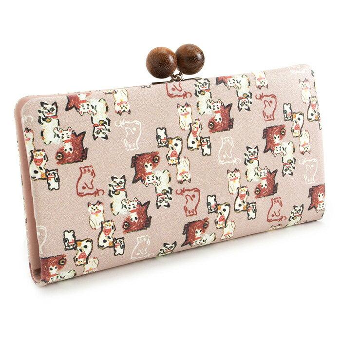 展示品箱なし マンハッタナーズ 財布 長財布 がま口財布 ピンク Manhattaner's 070760340-33 レディース 婦人