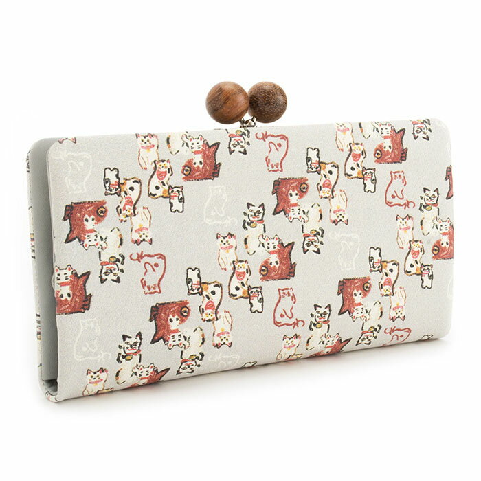 展示品箱なし マンハッタナーズ 財布 長財布 がま口財布 灰(グレー) Manhattaner's 070760340-20 レディース 婦人