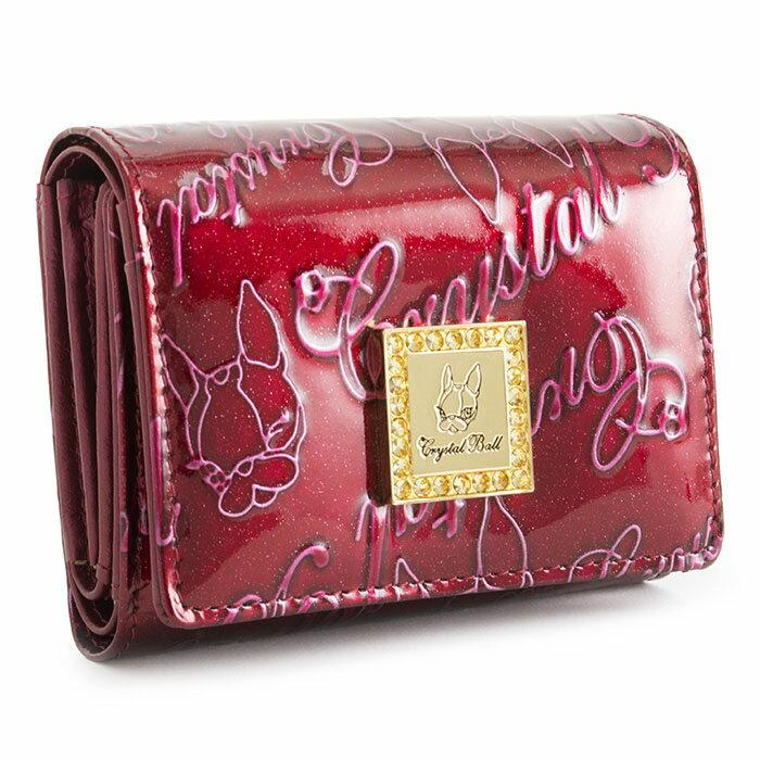 <クーポン配布中>クリスタルボール 財布 三つ折り財布 ワイン Crystal Ball cbk011-80 レディース 婦人