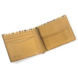 7a3b8a73ab8b クーポン配布中>ポールスミス 財布 二つ折り財布 Paul Smith キャメル psy906-