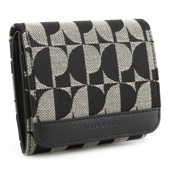 <クーポン配布中>ピエールカルダン 財布 二つ折り財布 Pierre Cardin 黒(ブラック) pck001-10 レディース 婦人