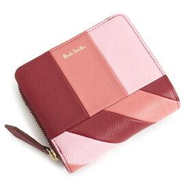 <クーポン配布中>ポールスミス 財布 二つ折り財布 ラウンドファスナー ピンク Paul Smith pwd363-24 レディース 婦人