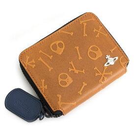 <クーポン配布中>ヴィヴィアンウエストウッド 財布 フリーケース 二つ折り財布サイズ ラウンドファスナー キャメル Vivienne Westwood ACCESSORIES vwk131-75