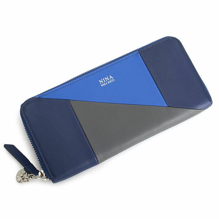 展示品箱なし ニナリッチ 財布 長財布 ラウンドファスナー 紺(ネイビー) NINA RICCI 035360310-84 レディース 婦人