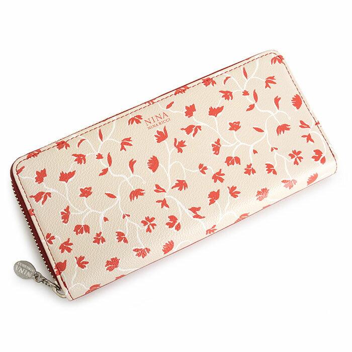 展示品箱なし ニナリッチ 財布 長財布 ラウンドファスナー 赤(レッド) NINA RICCI 035370410-30 レディース 婦人