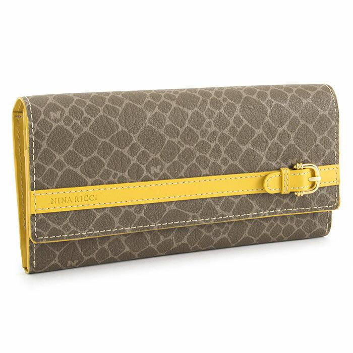 展示品箱なし ニナリッチ 財布 長財布 黄色(イエロー) NINA RICCI 085881500-60 レディース 婦人