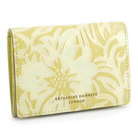 展示品箱なし キャサリンハムネット 名刺入れ カードケース 黄色(イエロー) KATHARINE HAMNETT LONDON khp431-40 レディース 婦人