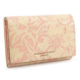 キャサリンハムネット 財布 二つ折り財布 サーモンピンク KATHARINE HAMNETT LONDON khp432-25 レディース 婦人