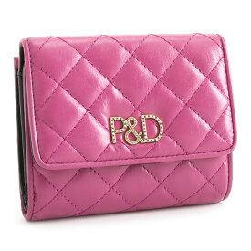 展示品箱なし ピンキー&ダイアン 財布 二つ折り財布 がま口財布 ピンク Pinky&Dianne pdlw7ls1-48 b レディース 婦人