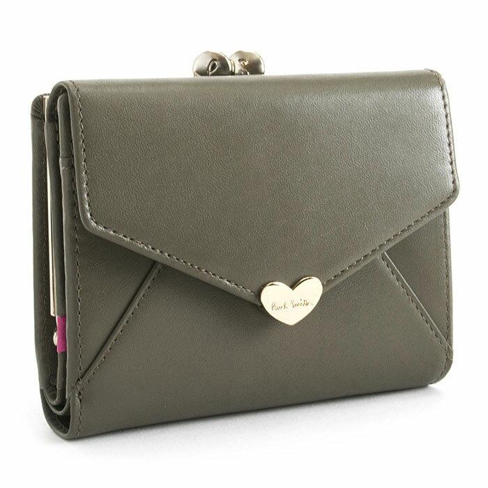 ポールスミス 財布 二つ折り財布 がま口財布 トープ Paul Smith pwu926-13 レディース 婦人