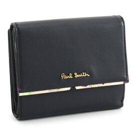 <クーポン配布中>ポールスミス 財布 二つ折り財布 紺(ネイビー。黒に近いネイビーです。) Paul Smith pwa363-30 レディース 婦人
