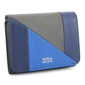 6b5de997002977 展示品箱なし ニナリッチ 財布 二つ折り財布 紺(ネイビー) NINA RICCI 035360610