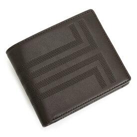 ランバンコレクション 財布 二つ折り財布 チョコ LANVIN collection jlmw6rs2-20 メンズ 紳士