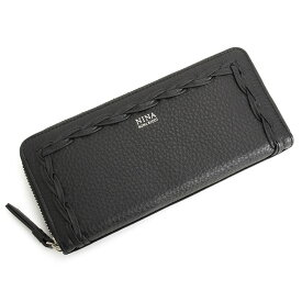 5f6f2dfb0f3d8f 展示品箱なし ニナリッチ 財布 長財布 ラウンドファスナー 黒(ブラック) NINA RICCI