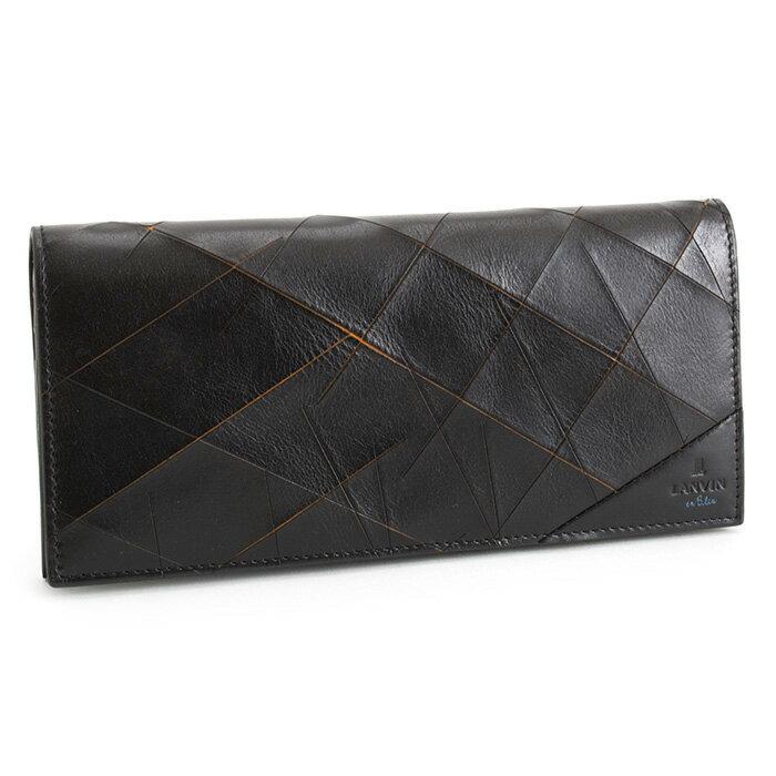 ランバンオンブルー 財布 長財布 黒(ブラック/オレンジ) LANVIN en Bleu 558603 メンズ 紳士