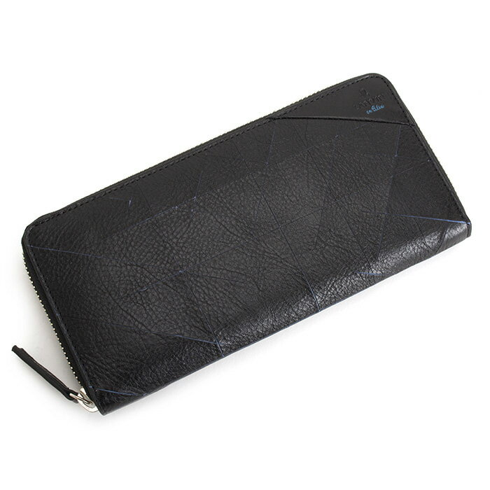 ランバンオンブルー 財布 長財布 ラウンドファスナー 黒(ブラック)/青(ブルー) LANVINenBleu 558604 メンズ 紳士