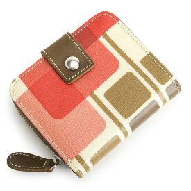 6ad1bb18bed8 展示品箱なし オーラカイリー 財布 二つ折り財布 ラウンドファスナー 赤系(レッド